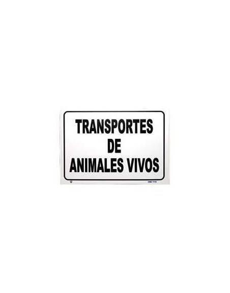 PLACA trasporte Animales vivos aluminio