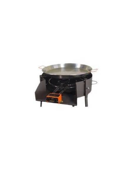 Barbacoa carbon Ø 60x75 cm redonda con soporte paellero imex el zorro 71582