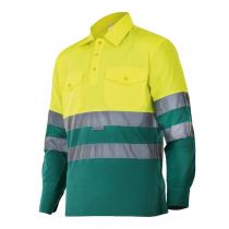 Camisa bicolor de manga larga de alta visibilidad VELILLA