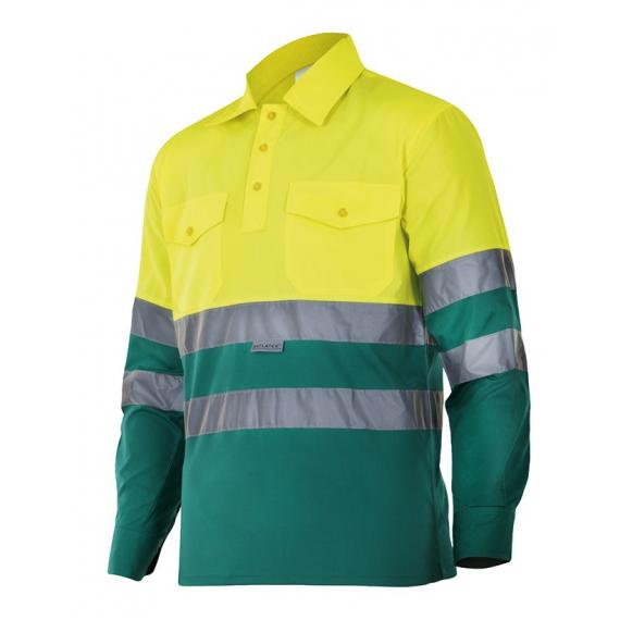 Camisa bicolor de manga larga de alta visibilidad