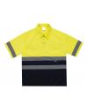 Camisa bicolor de manga corta de alta visibilidad