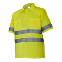 Camisa de manga corta de alta visibilidad VELILLA