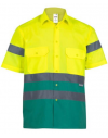 Camisa bicolor de alta visibilidad de manga corta