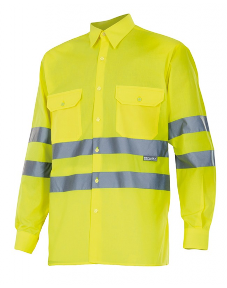 Camisa de alta visibilidad de manga larga VELILLA