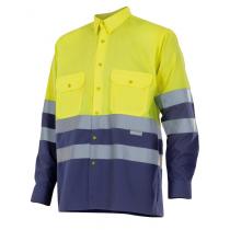 Camisa bicolor de alta visibilidad de manga larga