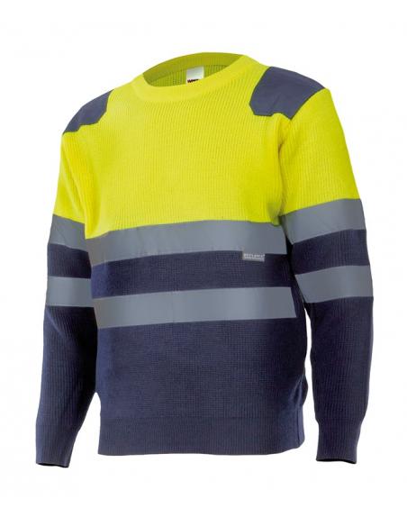 Jersey de punto bicolor de alta visibilidad VELILLA