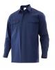 Camisa ignífuga con automáticos ocultos y dos bolsillos contapetas.