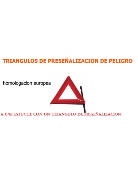 ESTUCHE CON UN TRIANGULO DE PRESEÑALIZACION DE PELIGRO